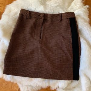 J.O.A. Skirts - Abbott Brown Houndstooth Mini Skirt from Revolve